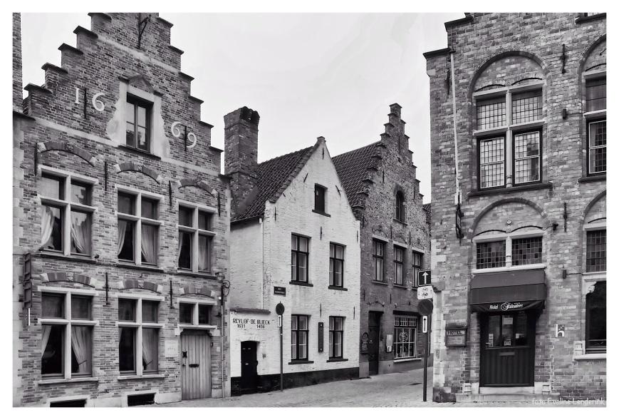 Brugge in zwart wit